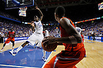 DeAndre Liggins tries to block the throw in during the second half of UK's win over the Auburn Tigers at Rupp Arena on Jan. 11, 2011. Photo by Britney McIntosh | Staff