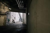 Marco Marcato (ITA/UAE-Emirates) entering the Orange Vélodrome to race<br /> <br /> 104th Tour de France 2017<br /> Stage 20 (ITT) - Marseille › Marseille (23km)