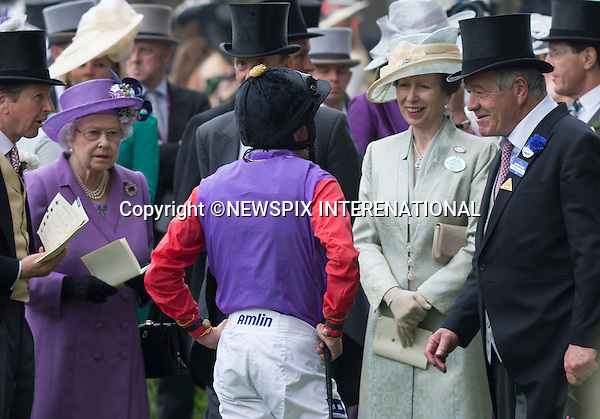 QUEEN WINS AT ASCOT<br /> Ascot on Ladies Day, Ascot Racecourse, Ascot_20/06/2013<br /> Mandatory Credit Photo: &copy;Dias/NEWSPIX INTERNATIONAL<br /> <br /> **ALL FEES PAYABLE TO: &quot;NEWSPIX INTERNATIONAL&quot;**<br /> <br /> IMMEDIATE CONFIRMATION OF USAGE REQUIRED:<br /> Newspix International, 31 Chinnery Hill, Bishop's Stortford, ENGLAND CM23 3PS<br /> Tel:+441279 324672  ; Fax: +441279656877<br /> Mobile:  07775681153<br /> e-mail: info@newspixinternational.co.uk