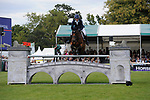Stamford, Lincolnshire, United Kingdom, 8th September 2019, Ludwig Svennerstal (SWE) & Stinger during the Show Jumping Phase on Day 4 of the 2019 Land Rover Burghley Horse Trials, Credit: Jonathan Clarke/JPC Images
