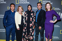 "NEW YORK - APRIL 9: Aasif Mandvi, Katie Couric, Ibtihaj Muhammad, Wajahat Ali and Norah O'Donnell attend National Geographic's ""America Inside Out with Katie Couric"" Premiere Screening at the Titus Theater at MOMA on April 9, 2018 in New York City. ""America Inside Out with Katie Couric"", a new six-part documentary series, follows Couric as she travels the country to talk with the people bearing witness to the most complicated and consequential questions in American culture today. The weekly series premieres Wednesday, April 11, 2018, at 10/9c and will air globally on National Geographic.(Photo by Anthony Behar/National Geographic/PictureGroup)"