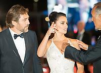 Alberto Barbera, Penelope Cruz, Javier Bardem at the &quot;Loving Pablo&quot; premiere, 74th Venice Film Festival in Italy on 6 September 2017.<br /> <br /> Photo: Kristina Afanasyeva/Featureflash/SilverHub<br /> 0208 004 5359<br /> sales@silverhubmedia.com