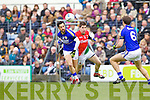 Paul Galvin Kerry in action against Lee Keegan Mayo in the National Football League in Austin Stack Park on Sunday..