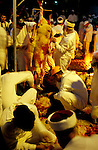 Samaria, the Samaritan Passover Sacrifice on Mount Gerizim, the skinning of the sheep&amp;#xA;<br />