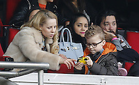Helena Seger with kids of Zlatan Ibrahimovic, attends a football match - Paris