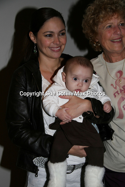 Guiding Light's Jessica Leccia and daughter Ivy at the 2009 Daytime Stars and Strikes to benefit the American Cancer Society on October 11, 2009 at the Port Authority Leisure Lanes, New York City, New York. (Photo by Sue Coflin/Max Photos)