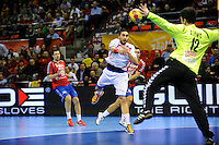 21.01.2013 World Championshio Handball. Match between Spain vs Serbia (31-20) at the stadium Principe Felipe. The picture show  Valero Rivera Folch (Left Wing of Spain).
