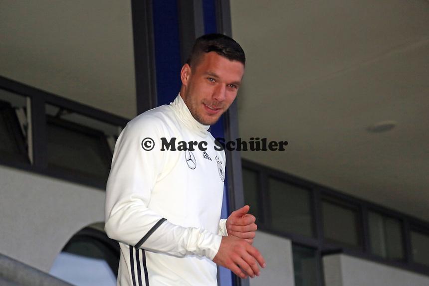 Lukas Podolski - Training der Deutschen Nationalmannschaft, Wurfplatz Berlin
