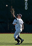 February 24, 2012:   Nevada Wolf Pack rightfielder Brooks Klein makes the catch against the Utah Valley Wolverines during  their NCAA baseball game played at Peccole Park on Friday afternoon in Reno, Nevada.