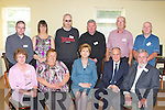 The Residents association with President Mary McAleese during her visit to the Killorglin Family resource on Friday front row l-r: Mary O'Sullivan, Marian Ahern, President Mary McAleese, Dr Martin McAleese,Jack O'Sullivan. Back row: Humphrey Curran, Tracy Cronin, John Sheehan, Jerimiah Griffin, Dan Sullivan, Joseph Crowe....