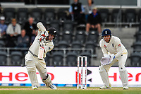 Tom Latham of the Black Caps hits on pass Jonny Bairstow of England during Day 4 of the Second International Cricket Test match, New Zealand V England, Hagley Oval, Christchurch, New Zealand, 2nd April 2018.Copyright photo: John Davidson / www.photosport.nz