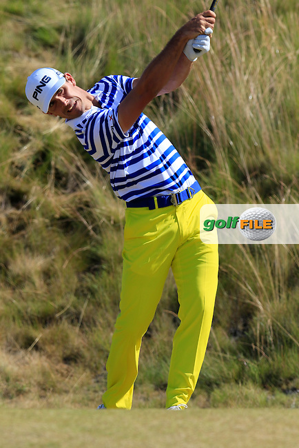 Billy HORSCHEL (USA) tees off the 6th tee during Friday's Round 2 of the 2015 U.S. Open 115th National Championship held at Chambers Bay, Seattle, Washington, USA. 6/19/2015.<br /> Picture: Golffile | Eoin Clarke<br /> <br /> <br /> <br /> <br /> All photo usage must carry mandatory copyright credit (&copy; Golffile | Eoin Clarke)