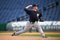 New York Yankees pitcher Nick Nelson (56) during an Instructional League game against the Philadelphia Phillies on September 27, 2016 at Bright House Field in Clearwater, Florida.  (Mike Janes/Four Seam Images)