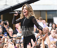 JUN 16 Shania Twain performs on NBC's Today
