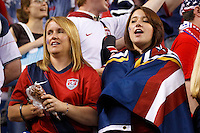 7 June 2011: USA fans after the CONCACAF soccer match between USA and Canada at Ford Field Detroit, Michigan. USA won 2-0.