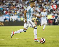 FOXBOROUGH, MASSACHUSETTS - June 18, 2016: Copa America Centenario USA 2016.  Argentine vs Venezuela in a match at Gillette Stadium.  Final score Argentina 4, Venezuela 1.