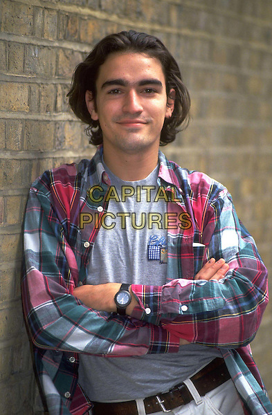 BEN CHAPLIN..Ref: 026..half length, half-length, long hair, plaid shirt, arms crossed..www.capitalpictures.com..sales@capitalpictures.com..©Capital Pictures..