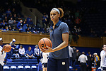 DURHAM, NC - FEBRUARY 04: Notre Dame's Brianna Turner. The Duke University Blue Devils hosted the University of Notre Dame Fighting Irish on February 4, 2018 at Cameron Indoor Stadium in Durham, NC in a Division I women's college basketball game. Notre Dame won the game 72-54.