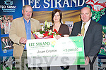 APRIL WINNER: Joan Cronin, Knockinane West, Kilcummin, was the Lee Stand EUR5,000 April Winner on Friday morning. L-r: Bill Kennedy, (General Manager) Joan Cronin and Jerry Dwyer (Production Manger).   Copyright Kerry's Eye 2008