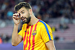 League Santander 2017/2018. Game: 05.<br /> FC Barcelona vs SD Eibar: 6-1.<br /> Gerard Pique.