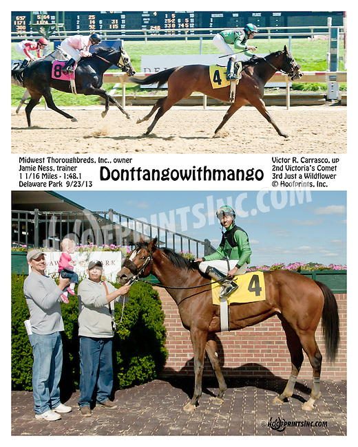 Donttangowithmango winning at Delaware Park on 9/23/13