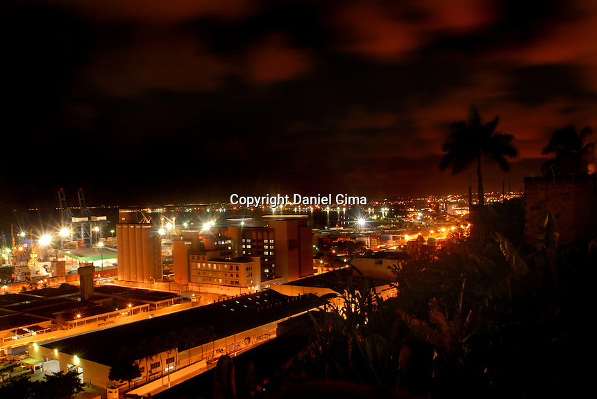 Night view of the port in Salvador, Bahia.Brazil 2008 #3