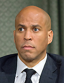 United States Senator Cory Booker (Democrat of New Jersey), a member of the US Senate Committee on Foreign Relations, at the hearing considering the nomination of Rex Wayne Tillerson, former chairman and chief executive officer of ExxonMobil to be Secretary of State of the US on Capitol Hill in Washington, DC on Wednesday, January 11, 2017.<br /> Credit: Ron Sachs / CNP