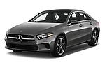 2019 Mercedes Benz A-Class-Sedan A-220 4 Door Sedan Angular Front stock photos of front three quarter view