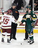 Joe Whitney (BC - 15), Tom Fryer, Kevan Miller (Vermont - 15) - The Boston College Eagles defeated the visiting University of Vermont Catamounts 6-0 on Sunday, November 28, 2010, at Conte Forum in Chestnut Hill, Massachusetts.