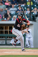 Oswaldo Arcia (31) of the Rochester Red Wings at bat against the Charlotte Knights at BB&T BallPark on August 8, 2015 in Charlotte, North Carolina.  The Red Wings defeated the Knights 3-0.  (Brian Westerholt/Four Seam Images)