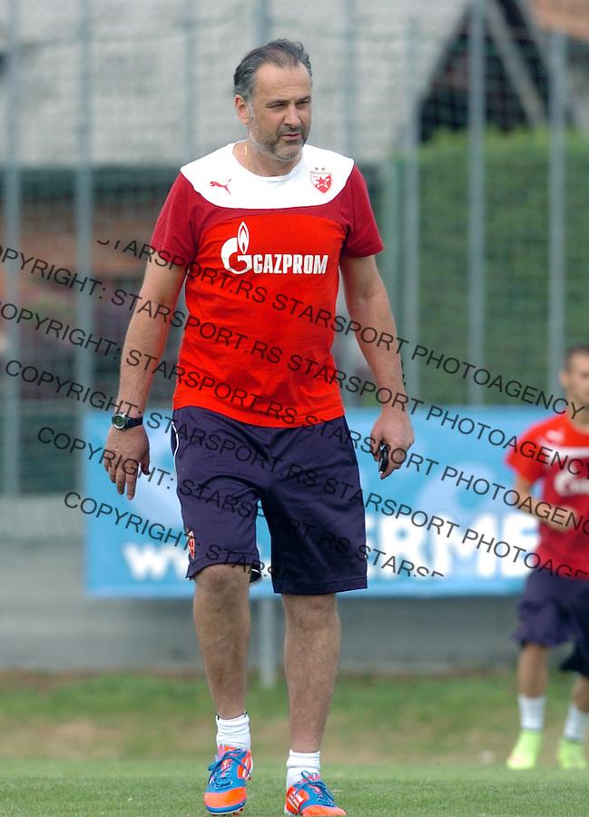 FUDBAL - PRIPREME CRVENE ZVEZDE - TRENING - Miodrag Grof Bozovic trener fudbalera Crvene Zvezde.<br /> Brezice, 18.06.2015.<br />                              foto:N.Skenderija