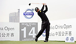 SUZHOU, CHINA - APRIL 15:  Thongchai Jaidee of Thailand tee off on the 14th hole during the Round One of the Volvo China Open on April 15, 2010 in Suzhou, China. Photo by Victor Fraile / The Power of Sport Images
