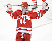 Alex Moss (BU - 44) - The Boston College Eagles defeated the visiting Boston University Terriers 6-2 in ACHA play on Sunday, December 4, 2011, at Kelley Rink in Conte Forum in Chestnut Hill, Massachusetts.