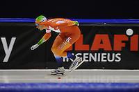 SCHAATSEN: HEERENVEEN: 04-10-2014, IJsstadion Thialf, Trainingswedstrijd, Patrick Roest, ©foto Martin de Jong