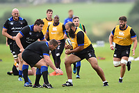 Kane Palma-Newport of Bath Rugby in possession. Bath Rugby pre-season training session on July 28, 2017 at Farleigh House in Bath, England. Photo by: Patrick Khachfe / Onside Images