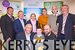 Winner<br /> --------<br /> At the Aras An Phobail,Deans Lane,Tralee last Thursday evening,the overall winner of the Rural business competition 2014,was Marcin Kopec of Dingle Sushi (seated Rt)with his son Konrad who holds the winning golden envelope of 4000 euro also seated is Thomas Hayes,Kerry County Council.(back)L-R Pat O'Driscoll (South Kerry Partnership)John Foley (Lee Strand) Norma Moriarty,Magda Kopec,Bernard Collins and John Stack ,chairman of farm Family Support Group.