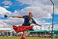 Weight for distance event at Aboyne Highland Games, Royal Deeside,Scotland<br />