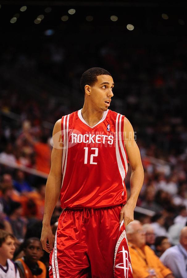 Apr. 11, 2010; Phoenix, AZ, USA; Houston Rockets guard (12) Kevin Martin against Phoenix Suns at the US Airways Center. Mandatory Credit: Mark J. Rebilas-