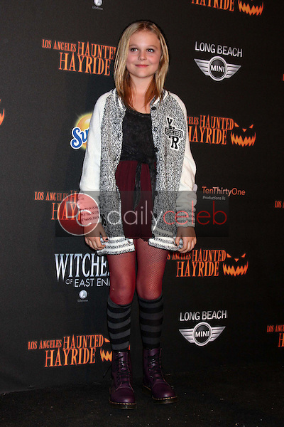 Emily Alyn Lind<br /> at the 8th Annual LA Haunted Hayride Premiere Night, Griffith Park, Los Angeles, CA 10-10-13<br /> David Edwards/DailyCeleb.Com 818-249-4998