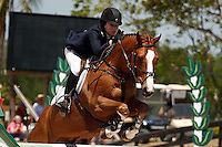 Nougat De Vallet ridden by Katie Dinan,  USEF trials#2 Wellington Florida. 3-22-2012