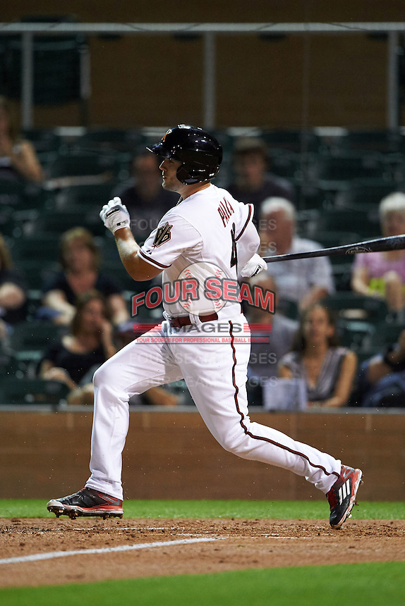 Salt River Rafters outfielder Daniel Palka (40) at bat during an Arizona Fall League game against the Scottsdale Scorpions on October 13, 2015 at Salt River Fields at Talking Stick in Scottsdale, Arizona.  Salt River defeated Scottsdale 5-3.  (Mike Janes/Four Seam Images)