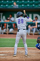 Brenton Doyle (29) of the Grand Junction Rockies at bat against the Ogden Raptors at Lindquist Field on September 9, 2019 in Ogden, Utah. The Raptors defeated the Rockies 6-5. (Stephen Smith/Four Seam Images)