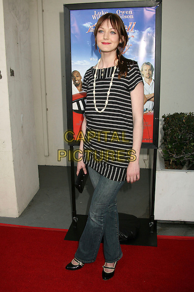 """AZURA SKYE .""""The Wendell Baker Story"""" Los Angeles Premiere at the Writers Guild Theatre, Beverly Hills, California, USA..May 10th, 2007.full length jeans denim black white striped stripes top necklace .CAP/ADM/BP.©Byron Purvis/AdMedia/Capital Pictures"""
