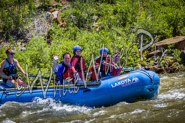 Lakota Guides crashing Cable Rapid while floating the Upper Colorado River from Rancho Del Rio to Two Bridges on the morning of June 23, 2015.