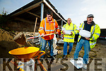 Pat O'Shea, Shaun Daughton and Tom Long Kerry County Council workers fill sandbags on Wednesday prior to the arrival of Hurricane Lorenzo.