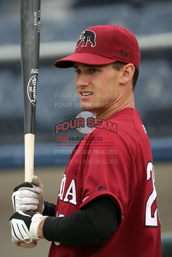 July 6 2009: Dan Kaczrowski of the Yakima Bears before game against the Everett AquaSox at Everett Memorial Stadium in Everett,WA.  Photo by Larry Goren/Four Seam Images