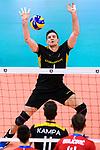 18.09.2019, Lotto Arena, Antwerpen<br />Volleyball, Europameisterschaft, Deutschland (GER) vs. Slowakei (SVK)<br /><br />Annahme Christian Fromm (#1 GER)<br /><br />  Foto © nordphoto / Kurth