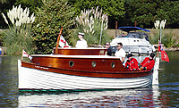 BNPS.co.uk (01202 558833)<br /> Pic: MattCain/BNPS<br /> <br /> Fully restored... Lady of Mann lifeboat number 8 looking resplendent. <br /> <br /> A lifeboat which was present at Dunkirk is set to sail there on the 80th anniversary of the mass evacuation after being painstakingly restored.<br /> <br /> The Lady of Mann was lifeboat number eight on board the passenger ship RMS Lady of Mann, which brought 4,262 men back to England in May 1940.<br /> <br /> It was also on the Isle of Man Steam Packet Company vessel when it carried six landing craft, 55 officers and 435 troops to Juno Beach on D-Day in June 1944.<br /> <br /> After the ship was broken up in 1971, the 27ft lifeboat was sold off and converted into a fishing boat which operated out of Maldon, Essex. It had been languishing in a rotting, dilapidated state in an Essex boatyard when IT manager Matt Cain paid £3,000 for it in 2009 after spotting it for sale online.<br /> <br /> The boat sank at its mooring in Windsor, Berks, during the floods of February 2014. Since then, Mr Cain, whose grandfather was evacuated at Dunkirk, has spent over £30,000 returning it to its former glory.