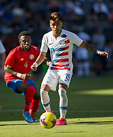 CARSON, CA - FEBRUARY 1: Ulysses Llanez Jr #19 of the United States moves with the ball during a game between Costa Rica and USMNT at Dignity Health Sports Park on February 1, 2020 in Carson, California.