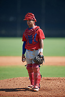 Philadelphia Phillies Jack Conley (23) during a Minor League Spring Training game against the New York Yankees on March 23, 2019 at the New York Yankees Minor League Complex in Tampa, Florida.  (Mike Janes/Four Seam Images)